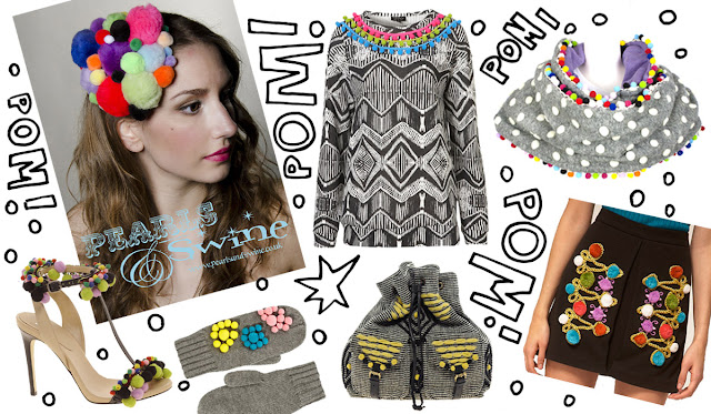 pom pom, fashion, pearls and swine, trend
