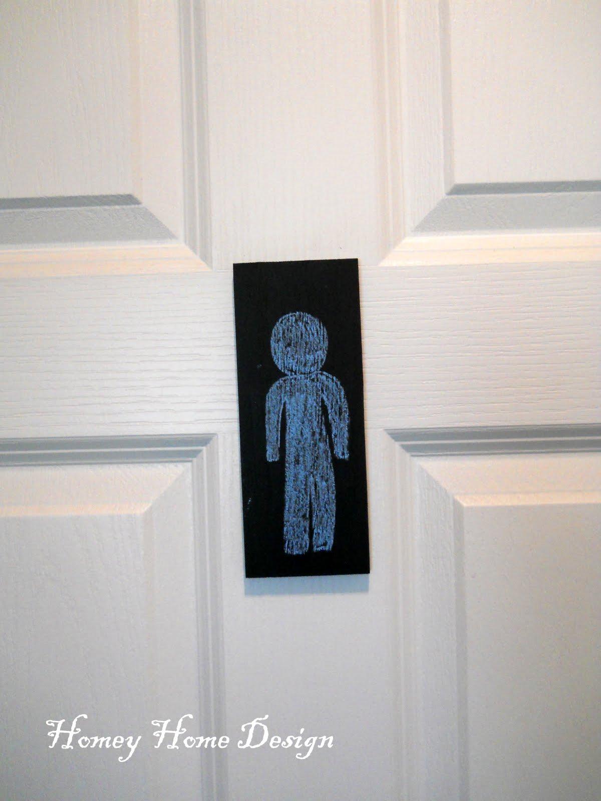 homey home design: Boys Budget Bathroom