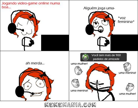 Tirinha - Garota jogando video game!