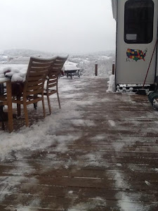 The deck after it was shoveled