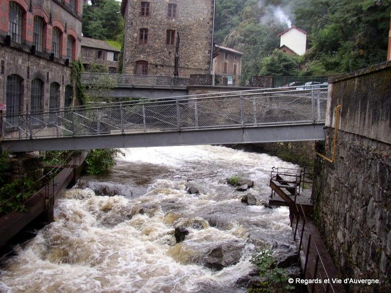 Thiers. Auvergne.La Durolle