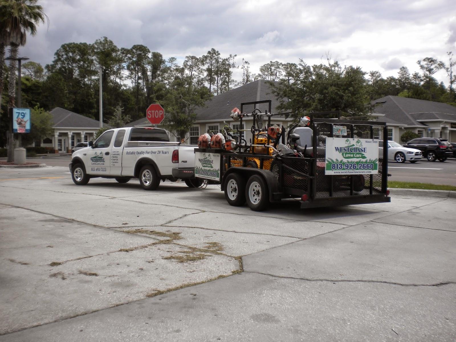Commercial truck success blog landscapers choose 1 2 ton for Garden maintenance trailer