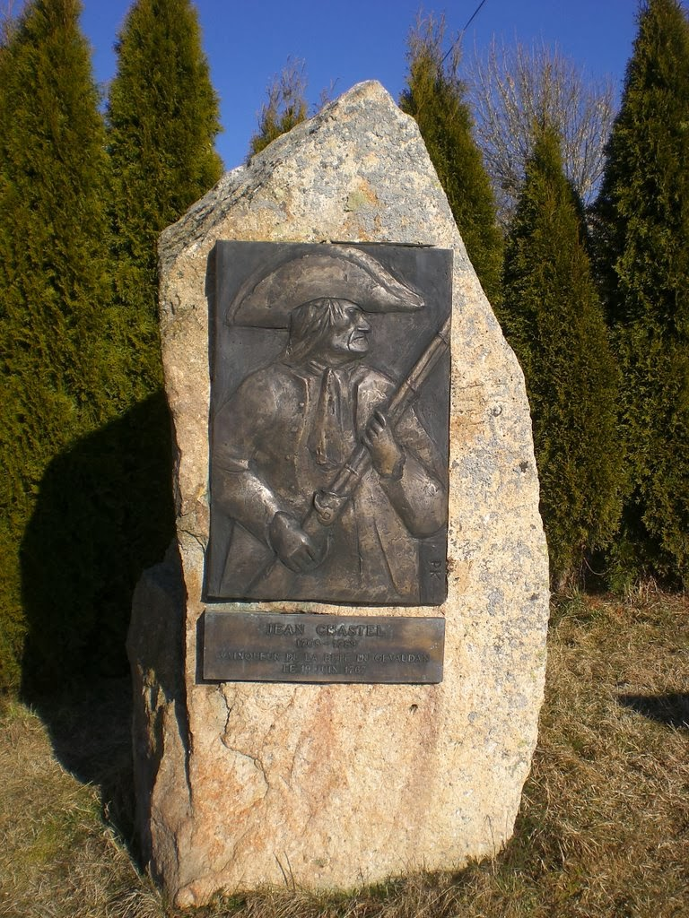 Bronze plaque to Jean Chastel