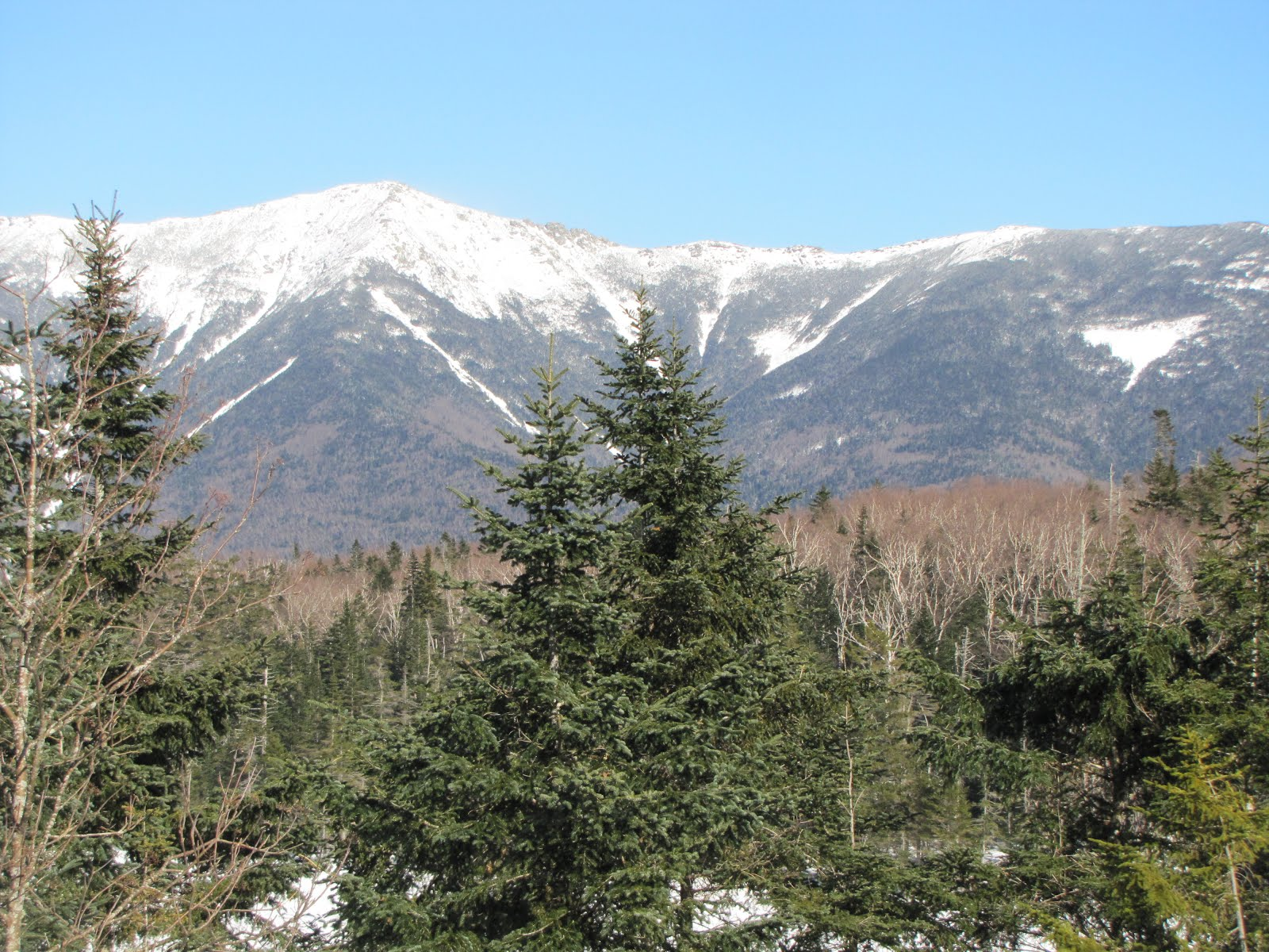 Franconia Ridge from my snowshoeing adventure