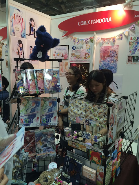 Singapore Toy, Game & Comic Convention STGCC 2015 artist alley comix pandora