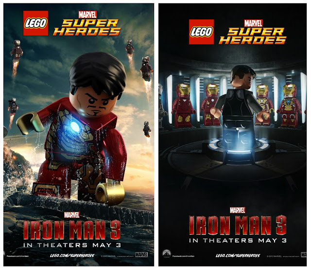 #IronMan3 Lego posters