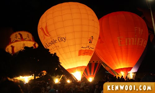 putrajaya hot air balloon night glow
