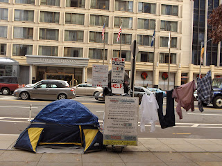 "15th St. and M St. in DC, ""The Houseless"" at http://Houseless.net"