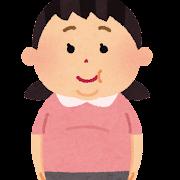 太った女の子のイラスト(肥満)