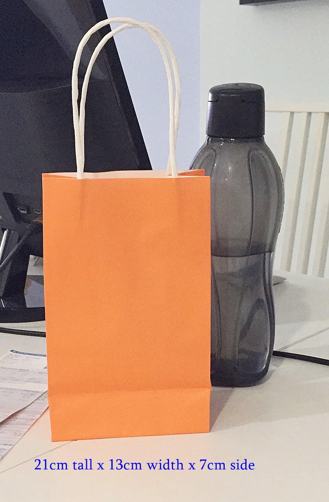 Paper Bags 21cm tall x 13cm width x 7cm side