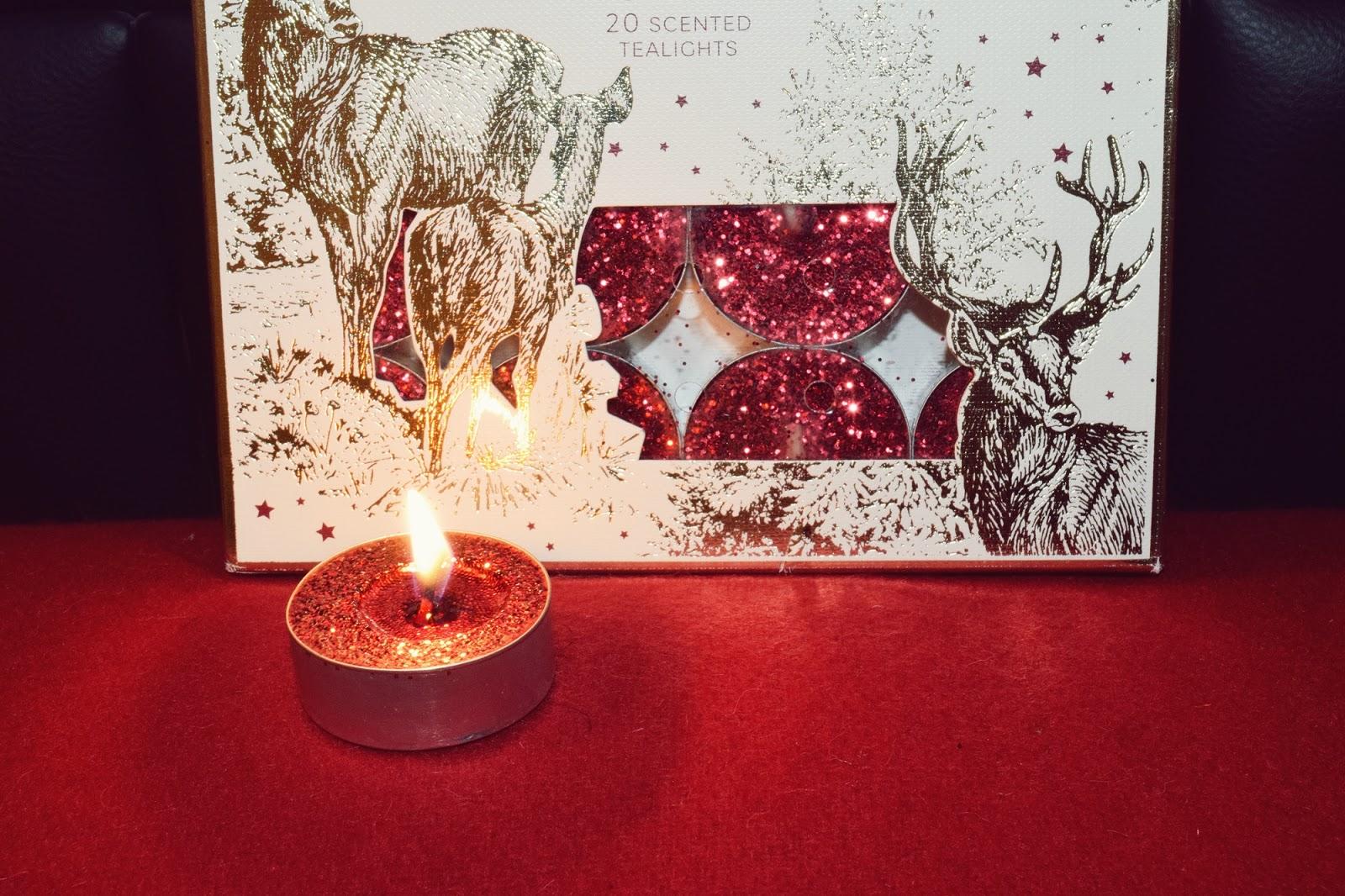 Mandarin, Clove & Cinnamon Scented Glitter Tealights