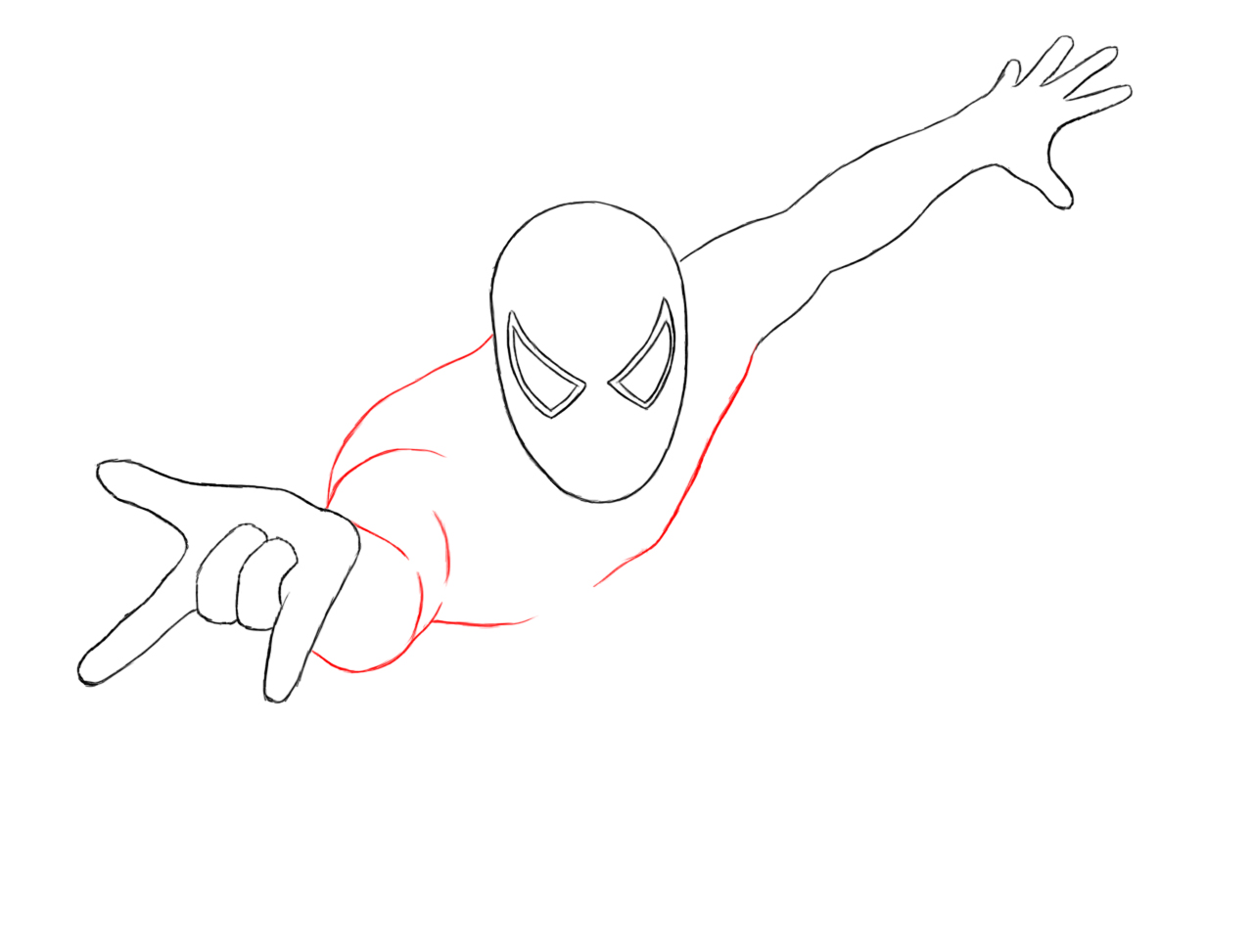 Spiderman Chest Drawing Draw in Spiderman's Chest by
