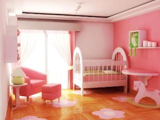 habitaciones de bebé color rosa