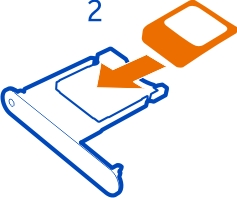 How to Put and Insert the SIM card in Nokia Mobile with SIM Door Key (In Pictures)