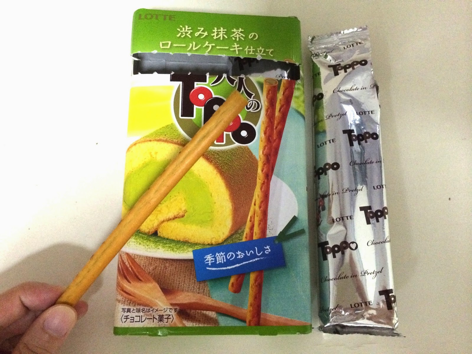 japanese matcha snack sweets japan toppo roll cake