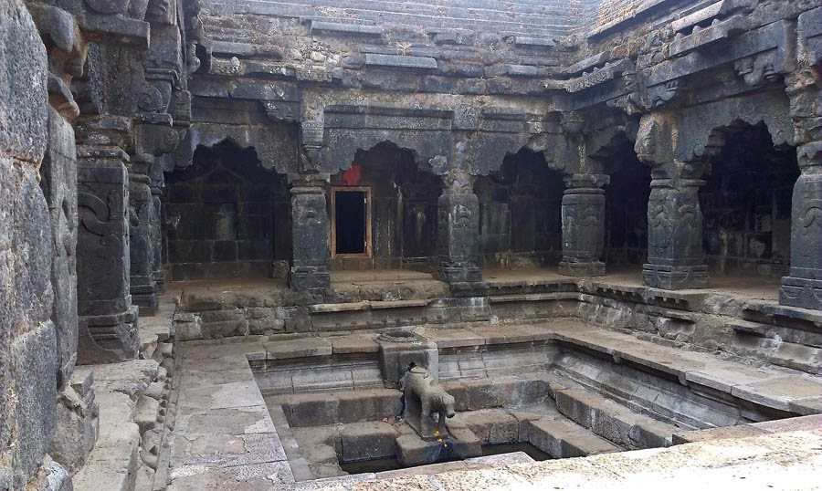 Inside of the Krishnabai temple in Mahabaleshwar