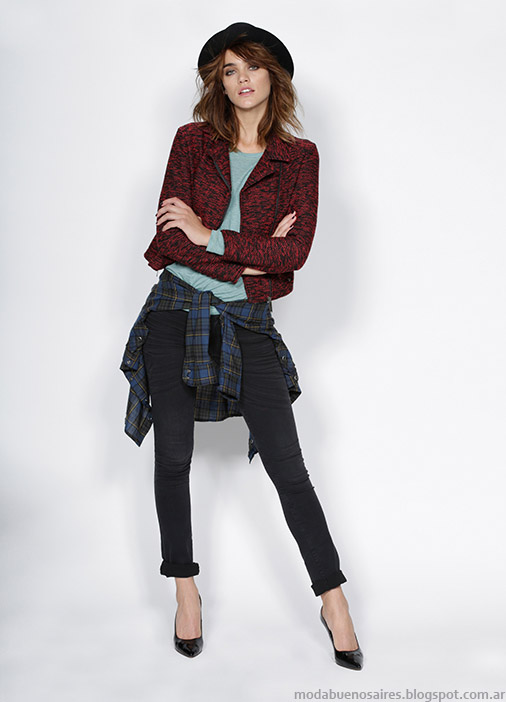 Looks de moda otoño invierno 2015 Gloria Jeans. Moda invierno 2015 mujer.