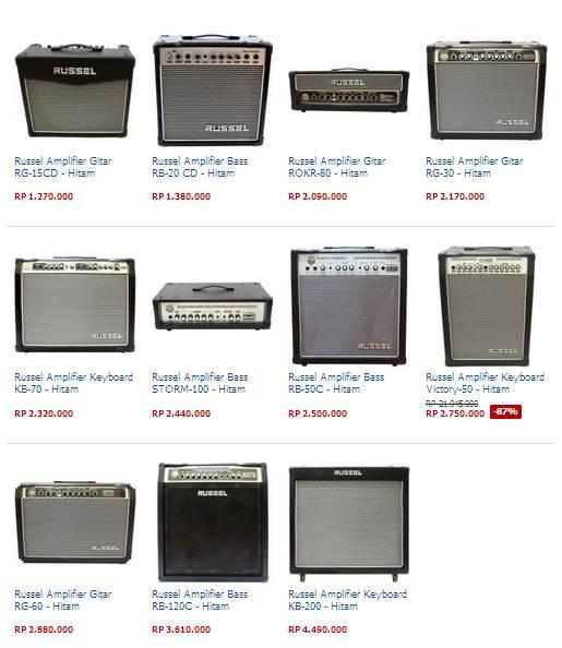 Daftar Harga Amplifier Gitar Russel Terbaru