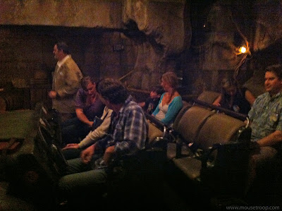 Indiana Jones Adventure ride Disneyland temple vehicle load