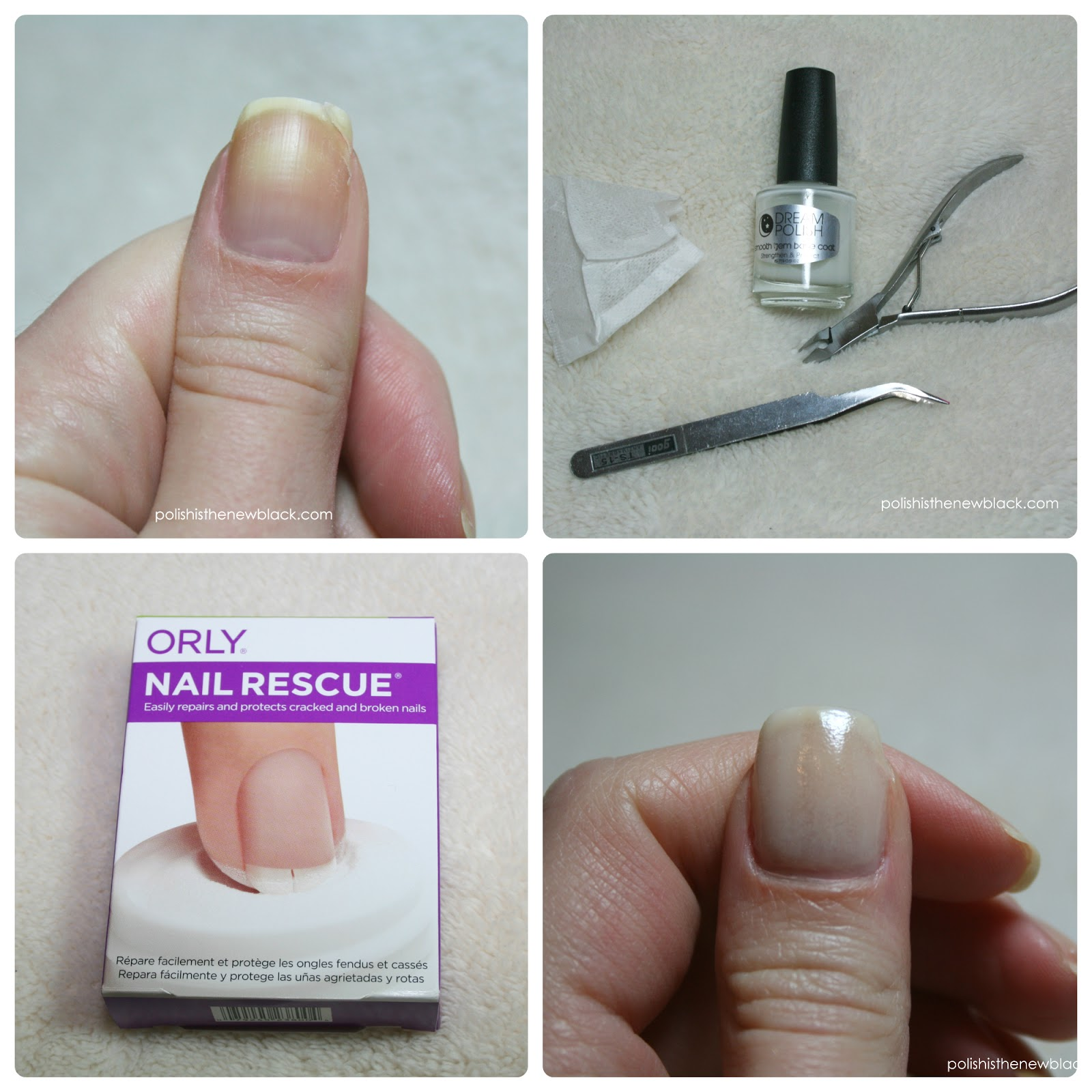 My nail break teabag repair and orly nail rescue polish for How to fix a broken nail with a tea bag