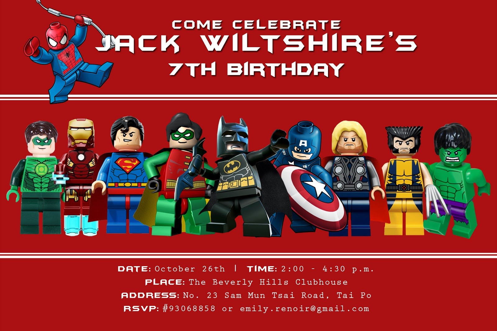 Jacks 7th Birthday Lego SUPERheros