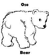 Imagenes para dibujar . Dibujos para colorear: febrero 2012 (oso bear colorar)