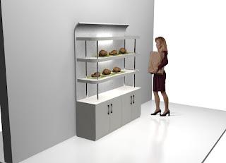 Etalasi Display Toko Roti - Semarang Furniture