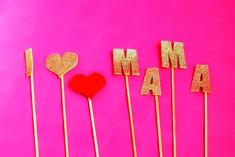 Feliz dia de la madre i love mama la musa decoraci n - Decoracion para el dia de la madre ...