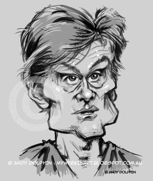 Dr Oz Senate hearing digital caricature
