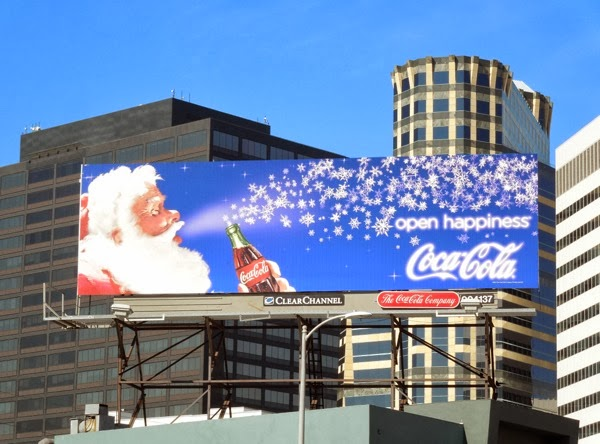 Coke Santa Christmas 2013 billboard