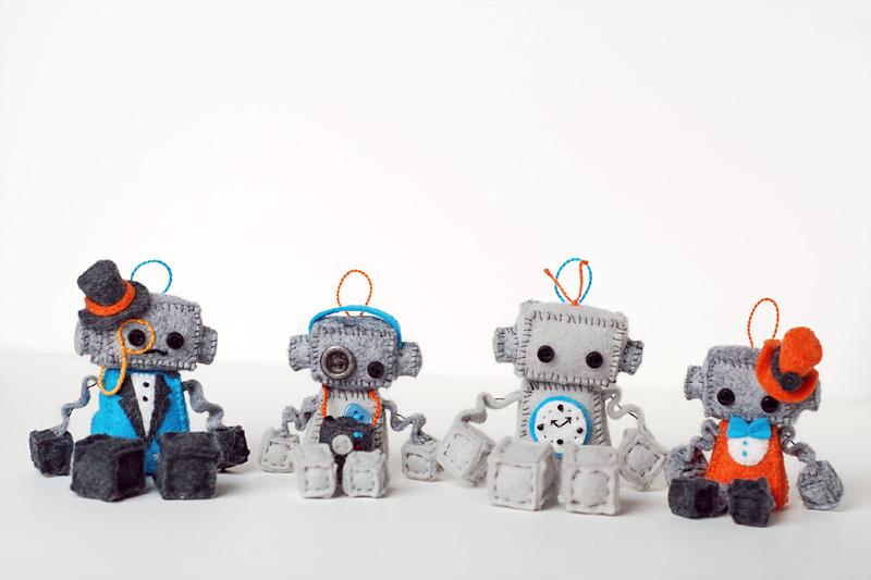 mini plush robot