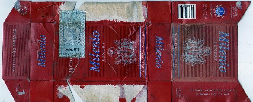 Marquillas de cigarrillos milenio for Entradas 4 milenio