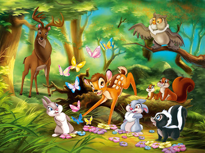 Disney animated fantasy movie Bambi and Friends pictures