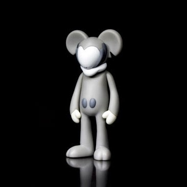 """Classic Grey"" Edition Mickiv Vinyl Figure by Arkiv Vilmansa"