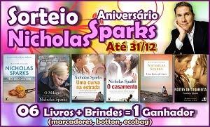 Sorteio livros Nicholas Sparks