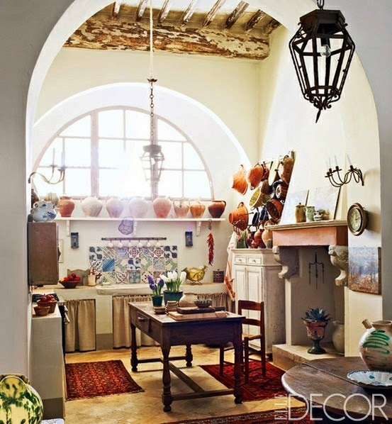 Bohemian Kitchen Elle Decor Trendspotting Boho