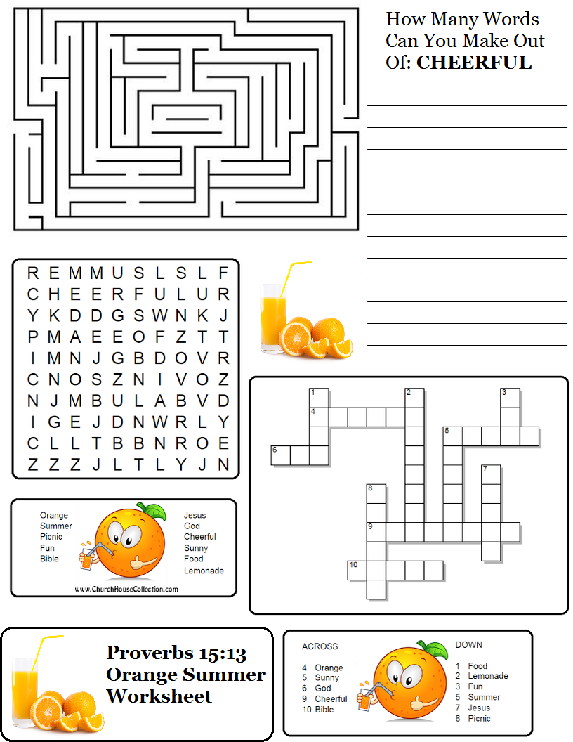 Here is a printable worksheet that has a maze, word search, crossword ...