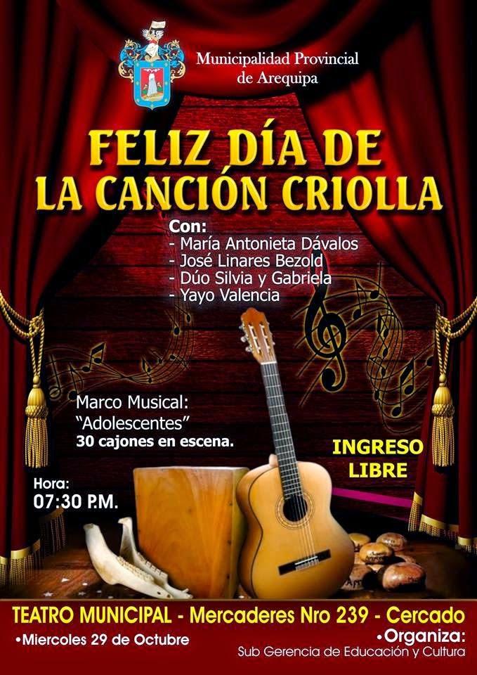 día de la canción criolla Arequipa