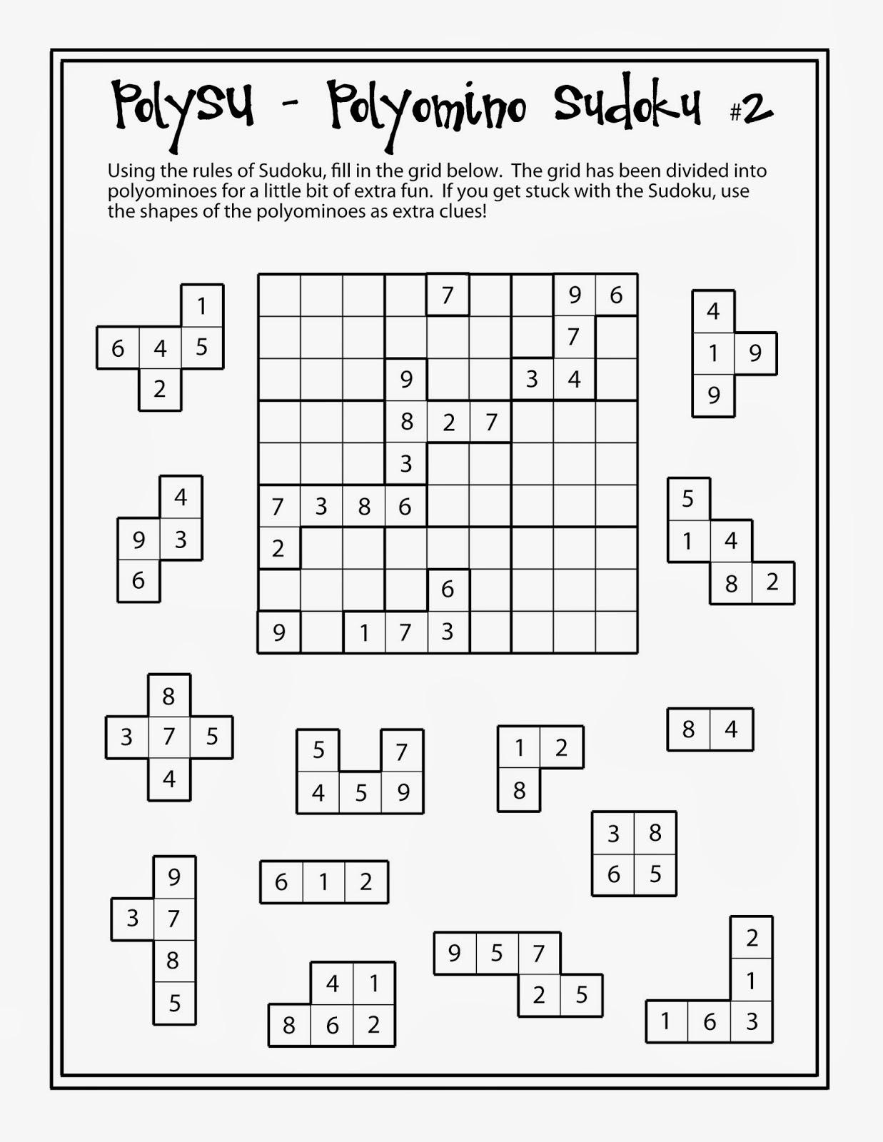 PolySU 2 - Polyomino Sudoku