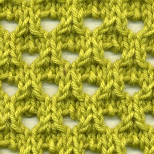 Knot Knecessarily Known Knitting: Symmetrical Yarn Over Net Pattern
