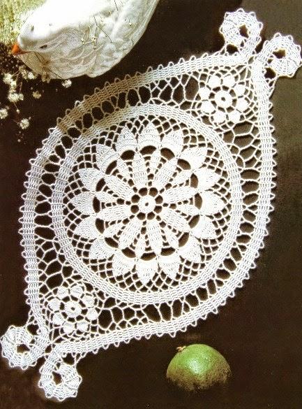 carpeta tejida al crochet con diagrama