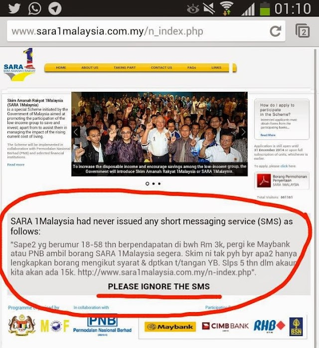 SARA 1Malaysia PALSU?!