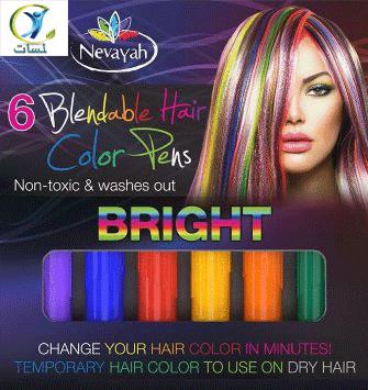 Bright  6 Count Nevayah Blendable Hair Color Pens