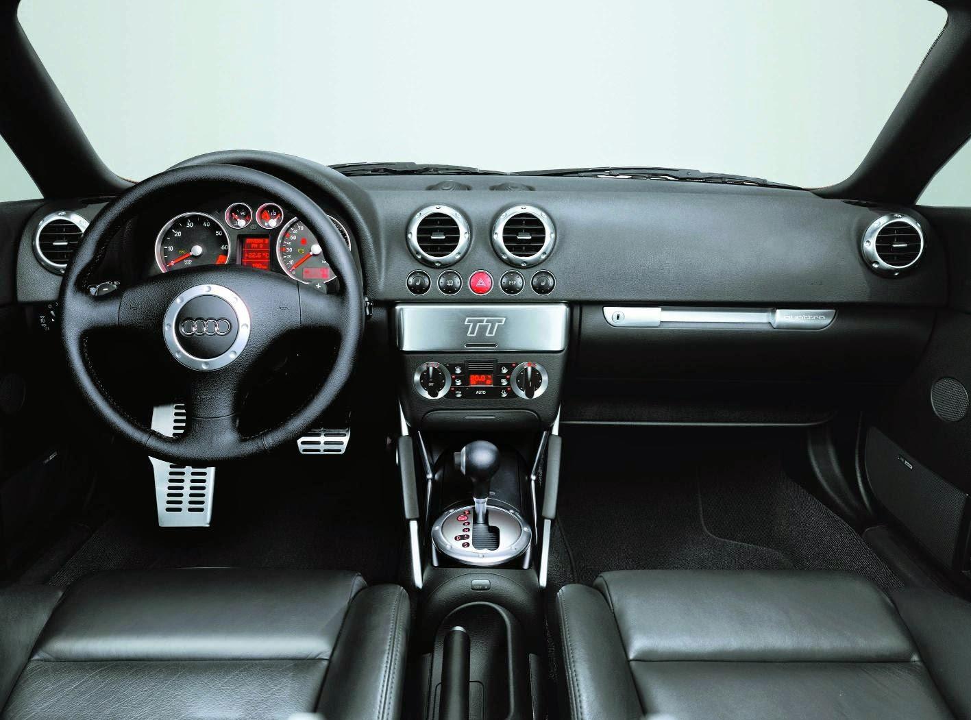Audi TT interior with DSG gearbox