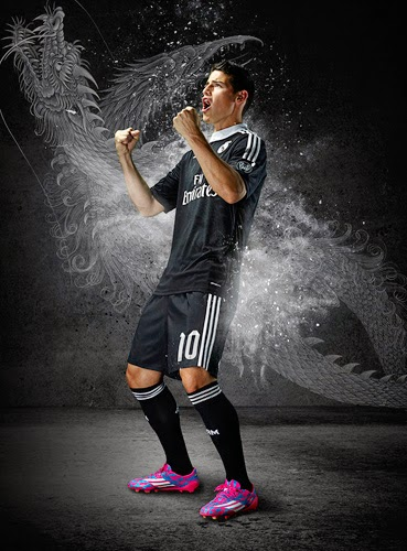 equipación negra Real Madrid Liga de Campeones dragones