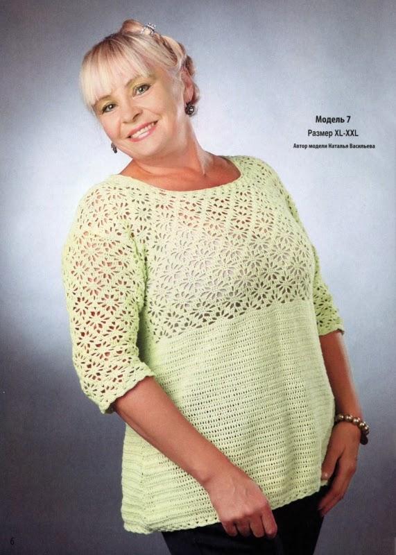 Вязание спицами модели для полных женщин лето
