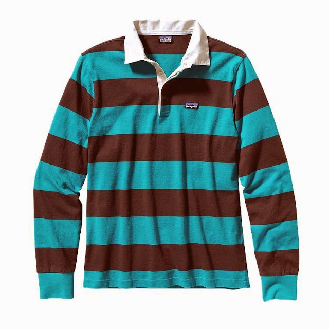 Thanks to Patagonia for bringing 'em back.  Why rugby shirts you ask?  Climbers in the 1970s loved Rugby shirts for their durability, coverage and comfort.  The Tobago Blue color (above) is my favorite out of the bunch.  What do you think?