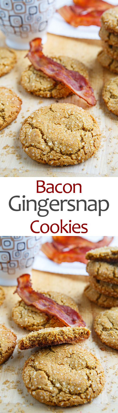 Bacon Gingersnap Cookies