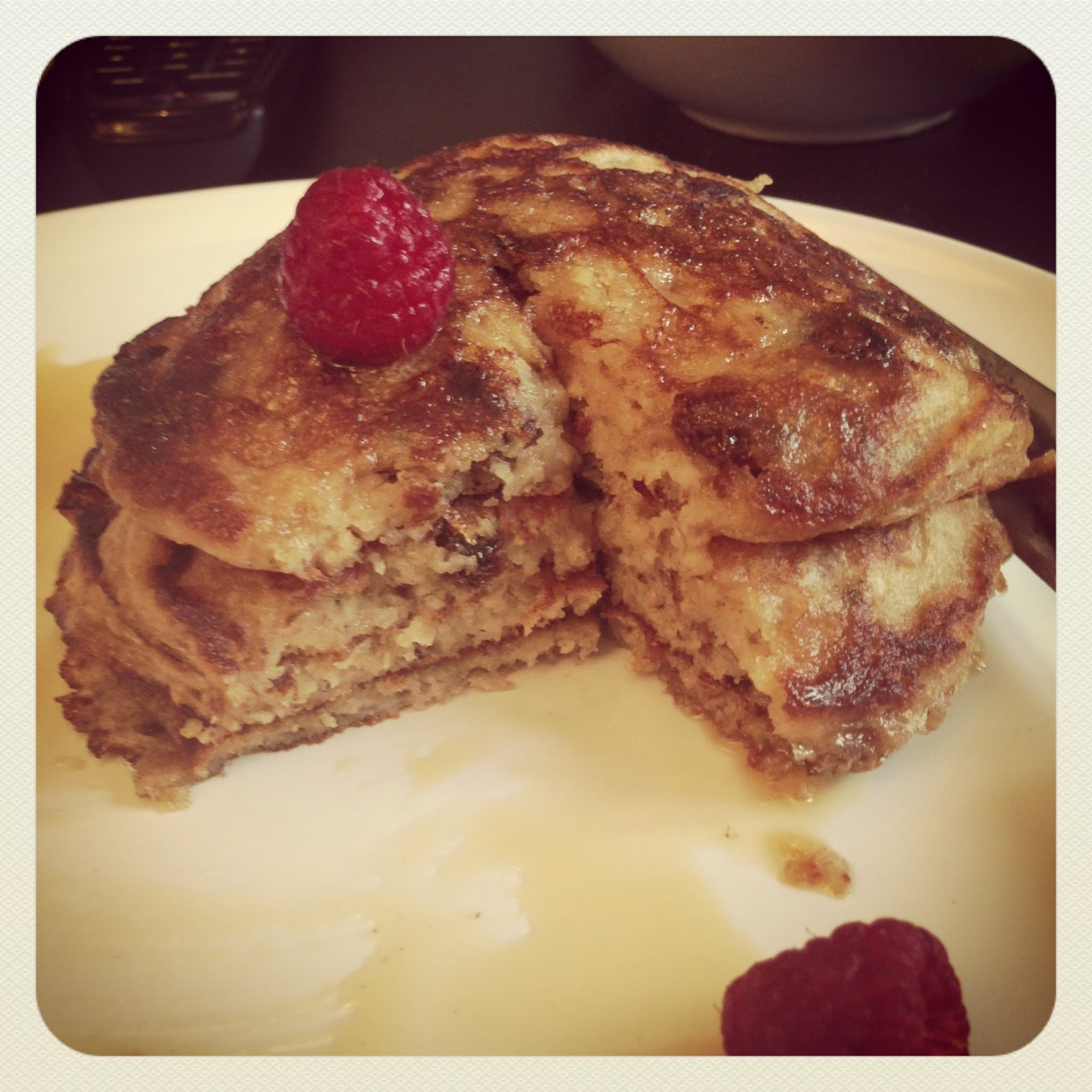Oatmeal Raisin Cookie Pancakes - Flick of the Whisk