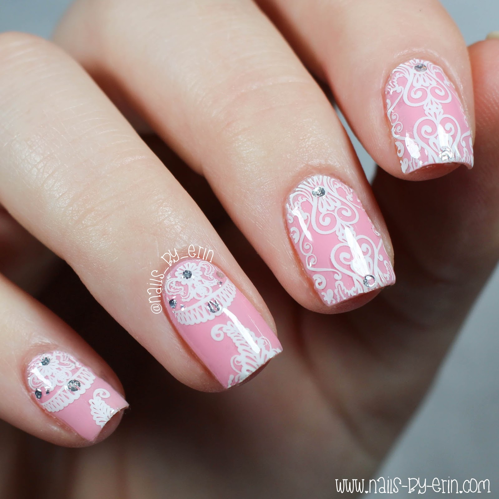 Nail Cake Born Pretty Store Review: NailsByErin: Pink And White Lace Nails